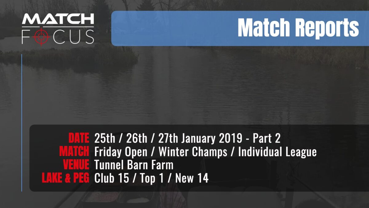 Saturday R3 Tom Scholey – Sunday R3 Individual League  25/26/27th January 2019 Match Report Part 2
