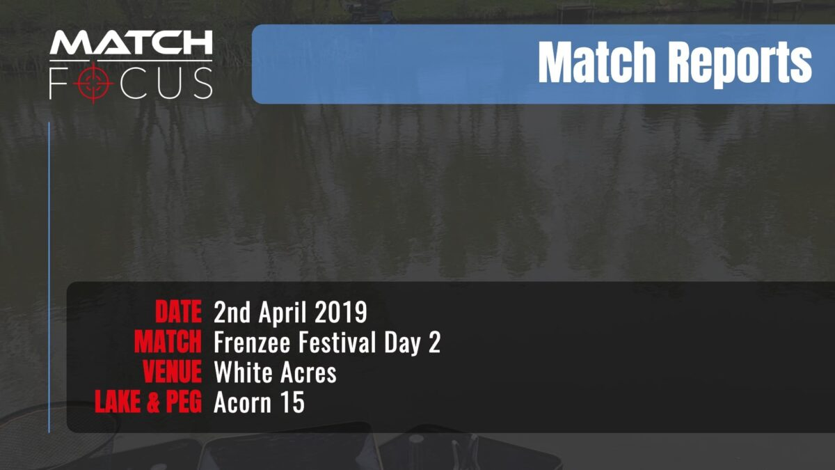 Frenzee Festival Day 2 – 2nd April 2019 Match Report