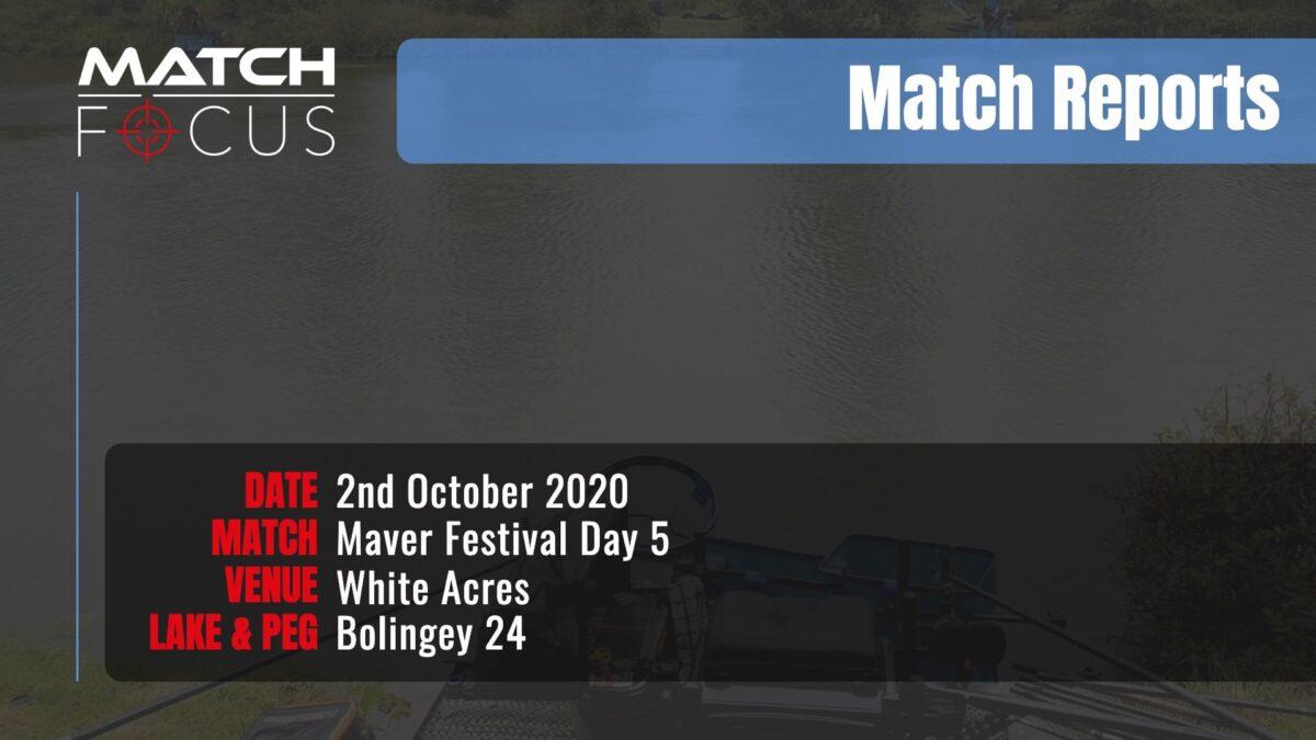 Maver Festival Day 5 – 2nd October 2020 Match Report
