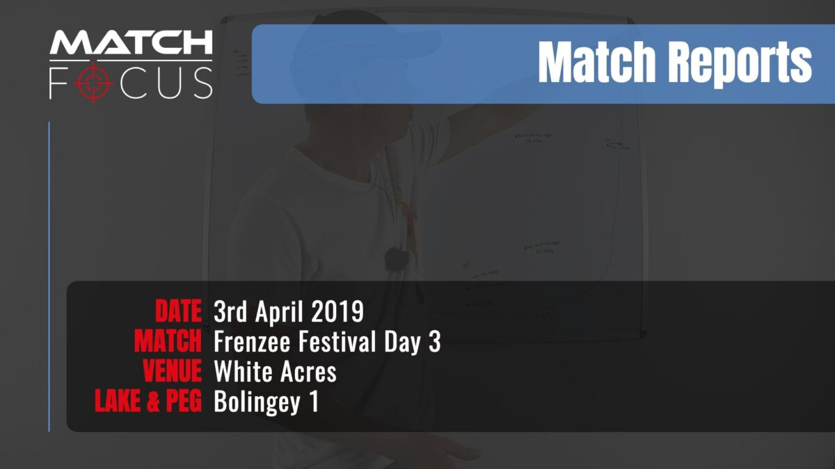 Frenzee Festival Day 3 – 3rd April 2019 Match Report