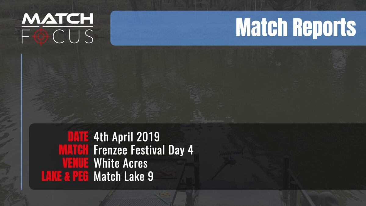Frenzee Festival Day 4 – 4th April 2019 Match Report