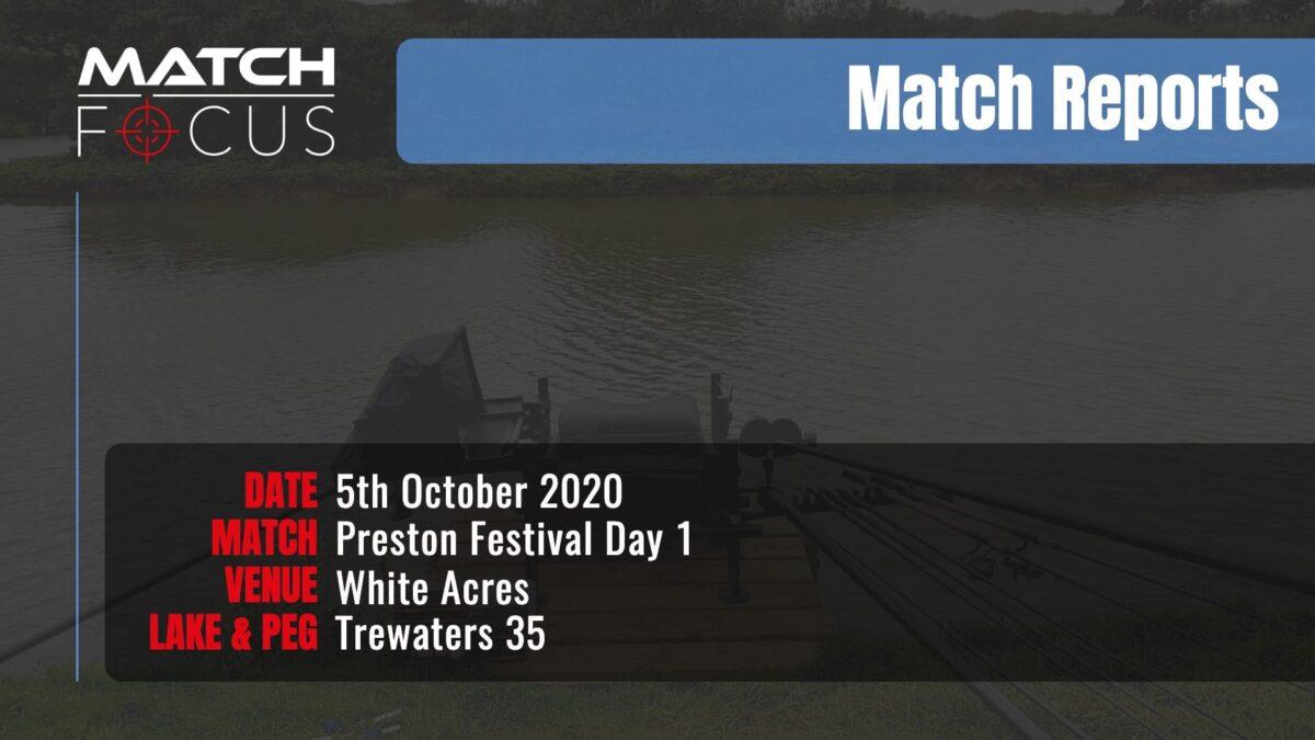 Preston Festival Day 1 – 5th October 2020 Match Report