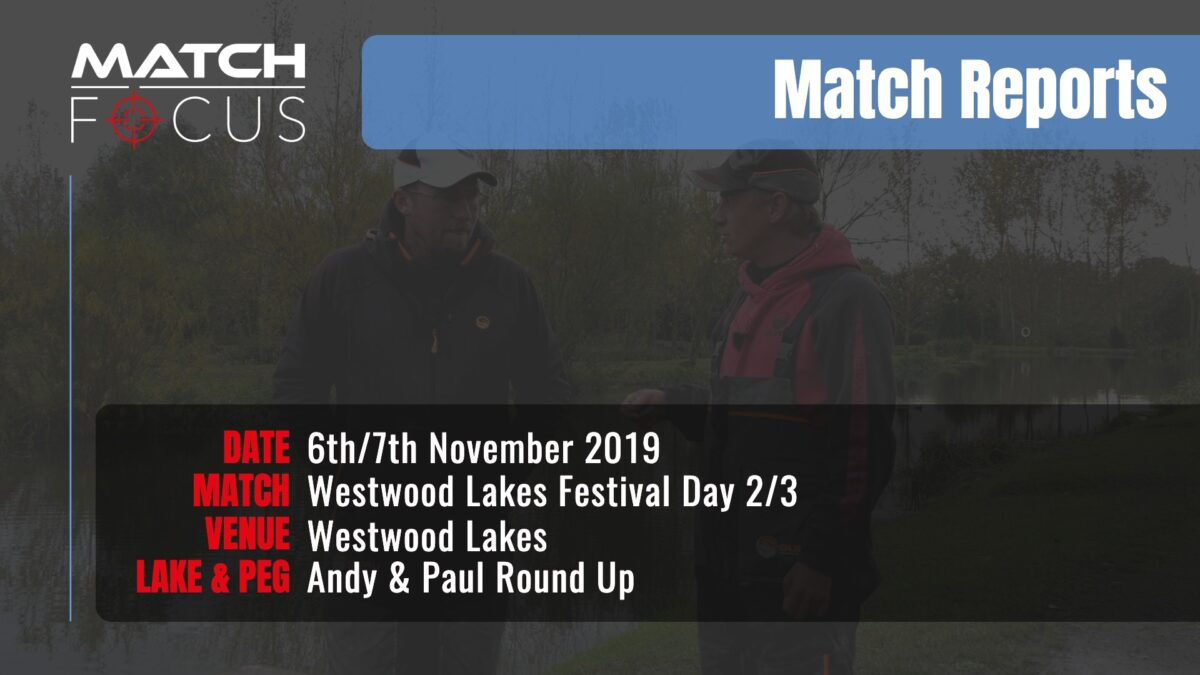 Westwood Festival Day 2 & 3 – 6/7th November 2019 Match Report