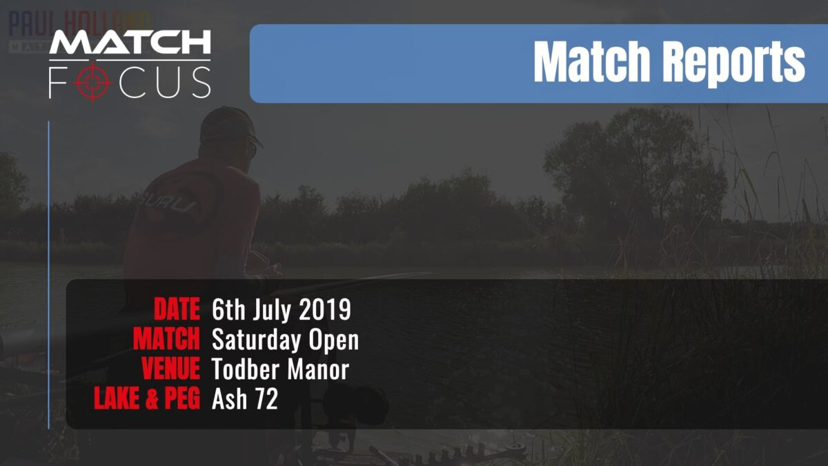 Saturday Open – 6th July 2019 Match Report