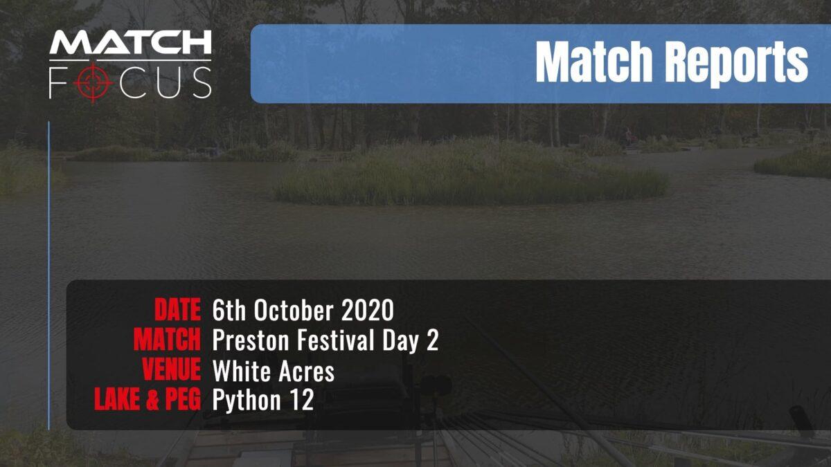 Preston Festival Day 2 – 6th October 2020 Match Report
