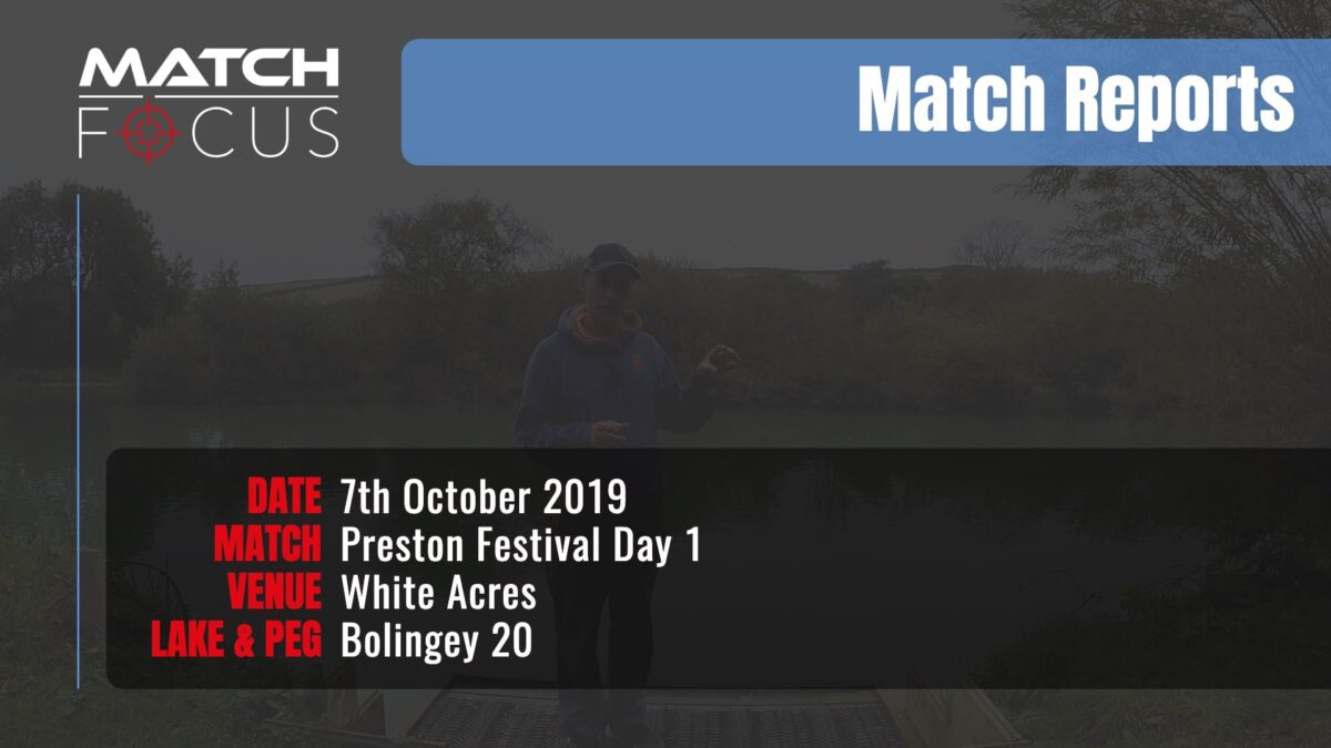 Preston Festival Day 1 – 7th October 2019 Match Report