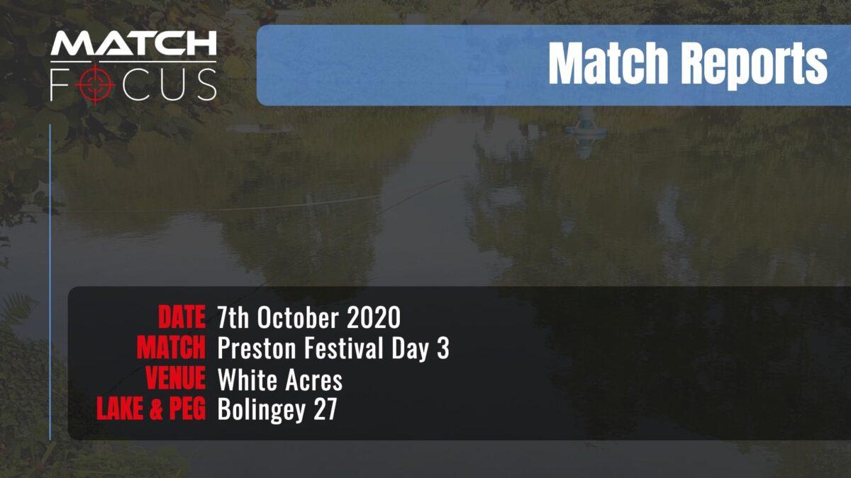 Preston Festival Day 3 – 7th October 2020 Match Report