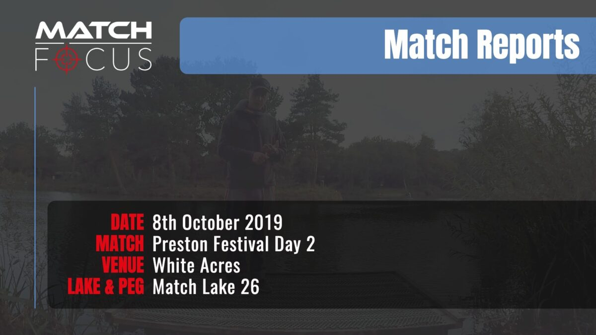 Preston Festival Day 2 – 8th October 2019 Match Report