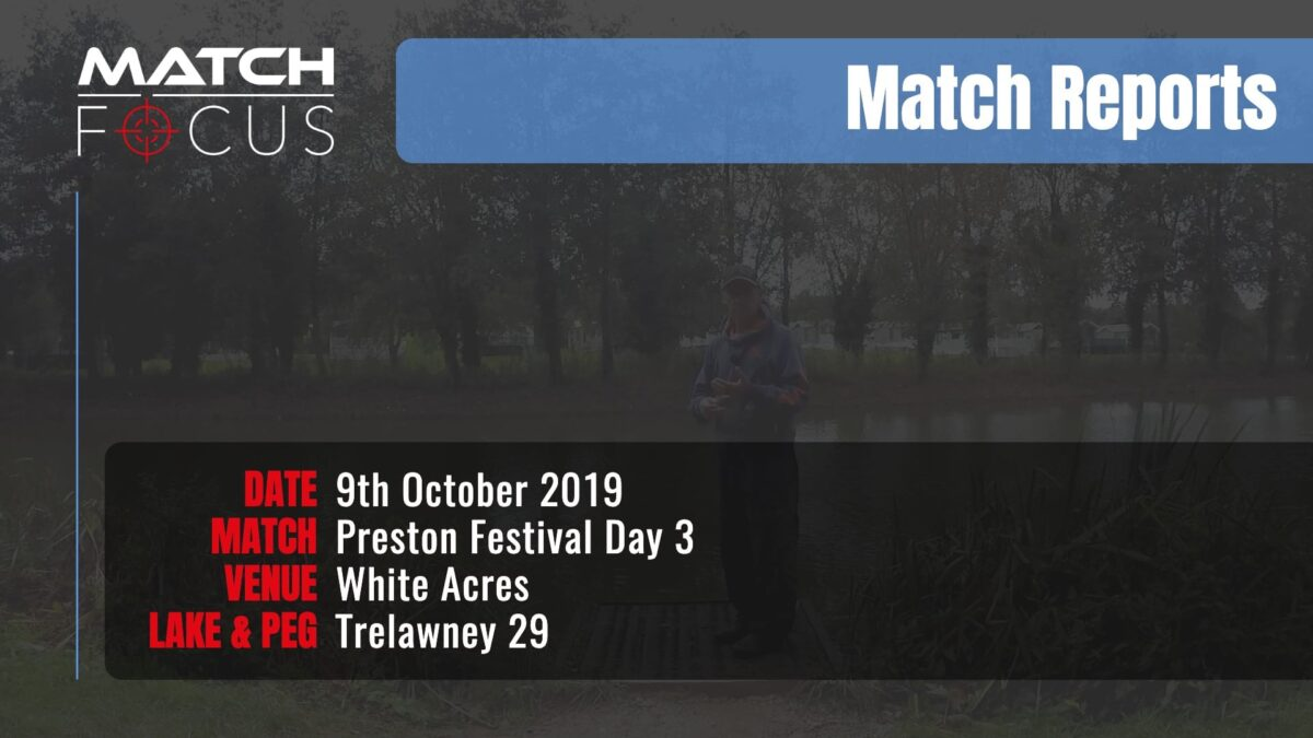 Preston Festival Day 3 – 9th October 2019 Match Report