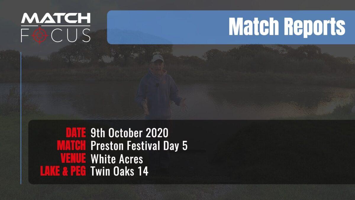 Preston Festival Day 5 Final Day – 9th October 2020 Match Report