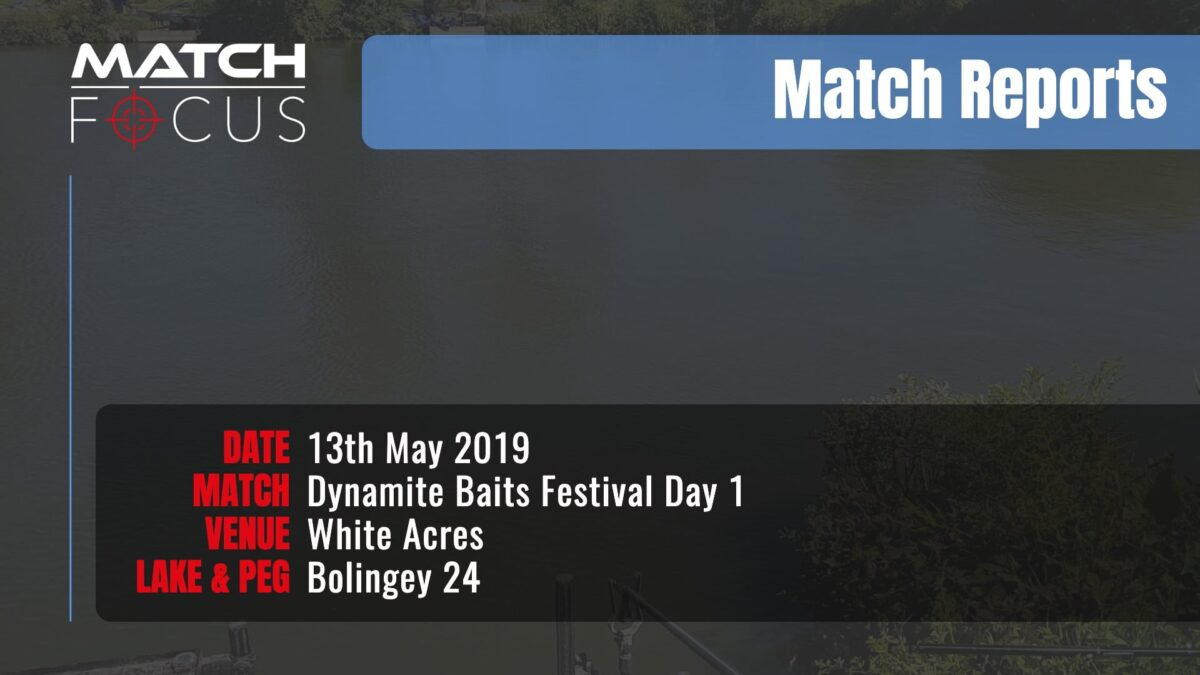 Dynamite Festival Day 1 – 13th May 2019 Match Report