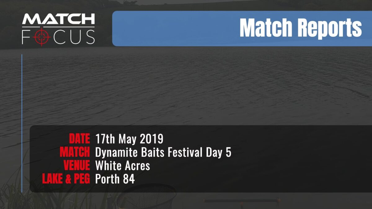 Dynamite Festival Day 5 – 17th May 2019 Match Report
