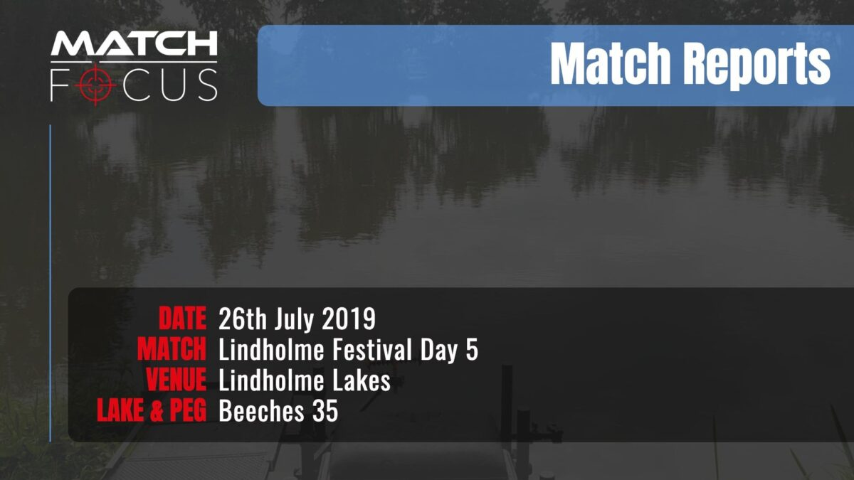 Lindholme Festival Day 5 – 26th July 2019 Match Report