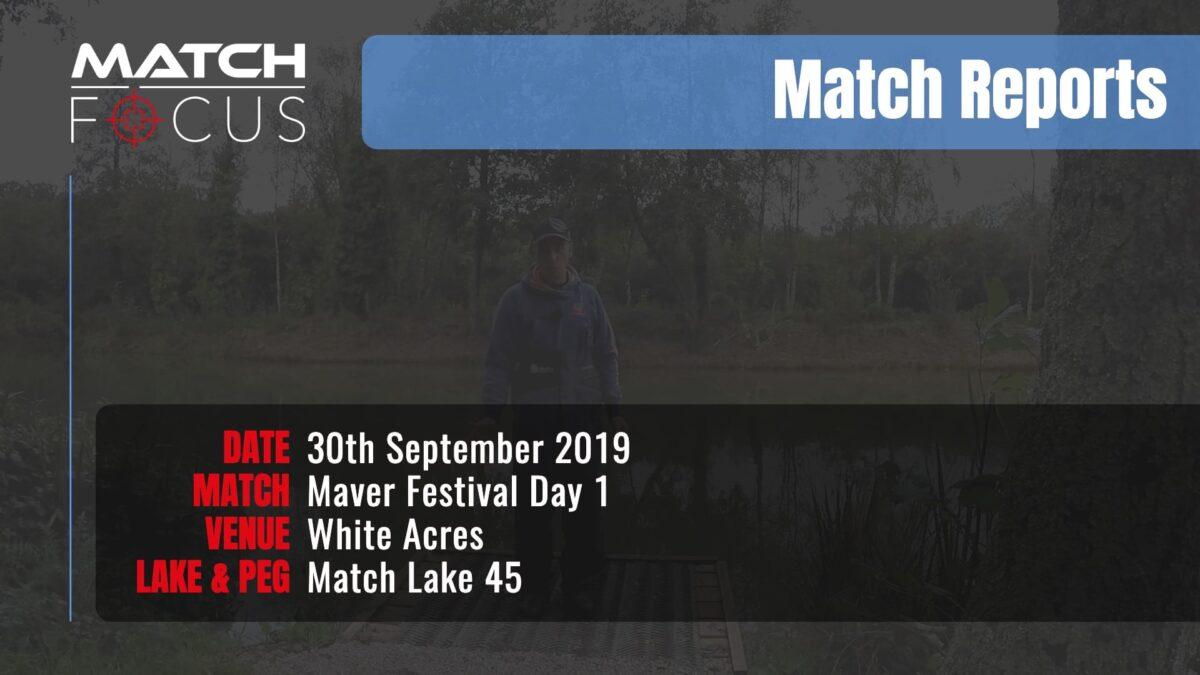 Maver Festival Day 1 – 30th September 2019 Match Report