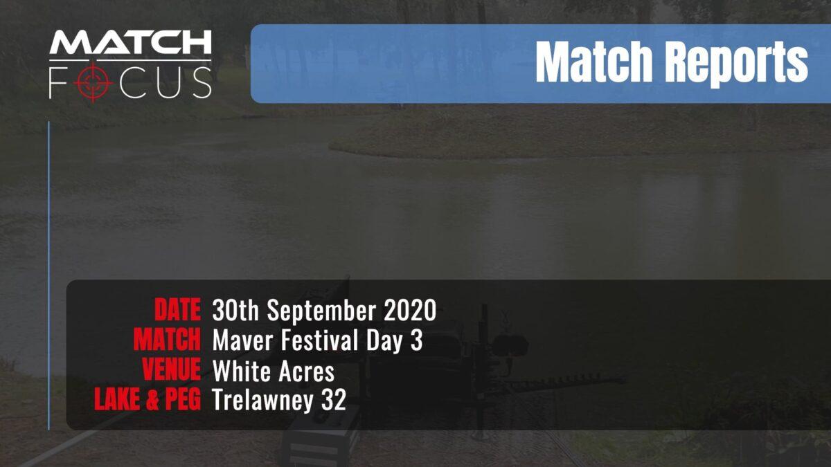 Maver Festival Day 3 – 30th September 2020 Match Report