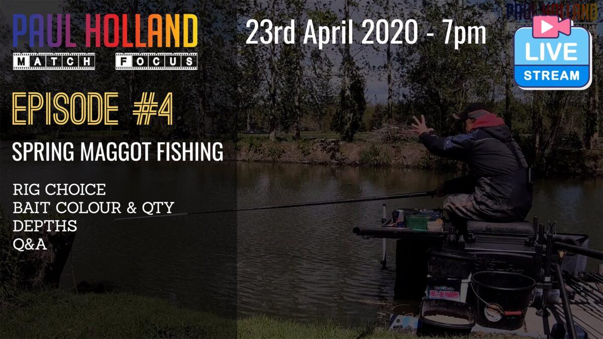 Live – Spring Maggot Fishing – 23rd April 2020