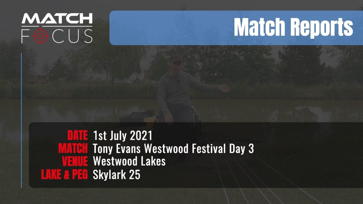 Tony Evans Westwood Festival Day 3 – 1st July 2021 Match Report