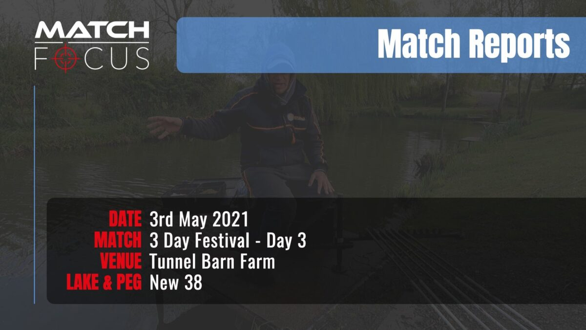 Tunnel 3 Day Festival Day 3 – 3rd May 2021 Match Report