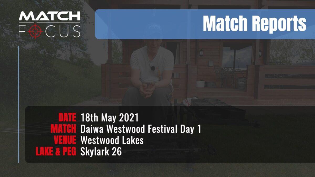 Daiwa Westwood Festival Day 1 – 18th May 2021 Match Report