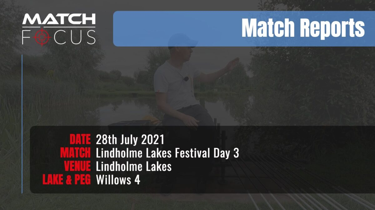 Lindholme Lakes Festival Day 3 – 28th July 2021 Match Report