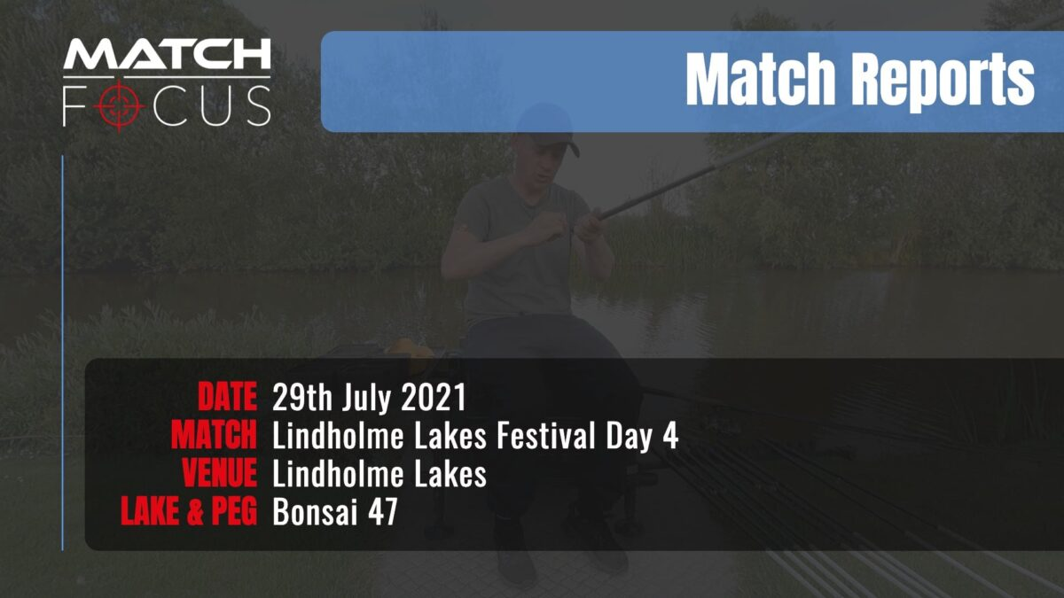 Lindholme Lakes Festival Day 4 – 29th July 2021 Match Report