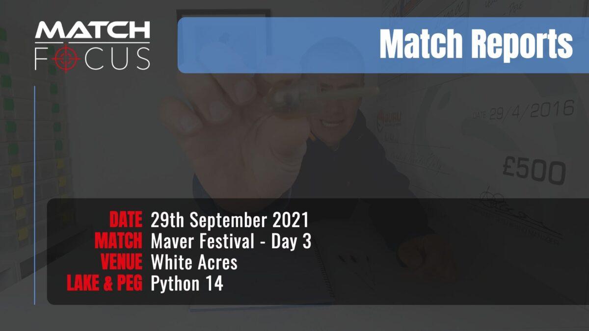 Maver Festival Day 3 – 29th September 2021 Match Report