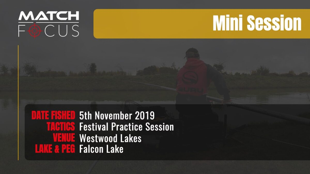 Westwood Lakes Practice Monday – 5th November 2019