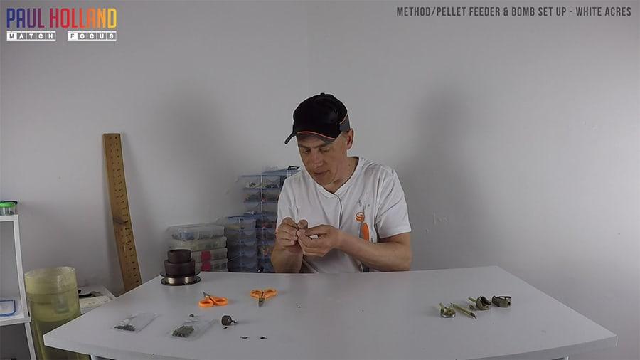 Method/Pellet feeder and bomb set up – White Acres