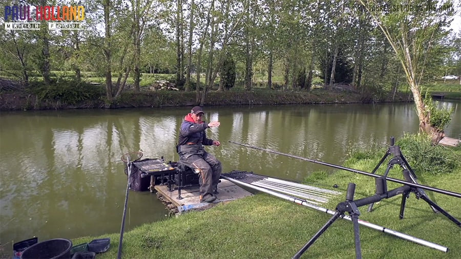 My tackle set up on the bank