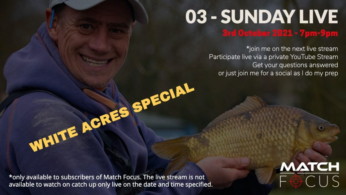 White Acres Special 3rd October 2021 – Live Stream